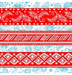 Tribal vintage ethnic pattern seamless vector image