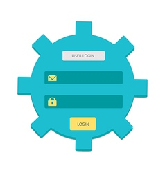 User login 43 vector image