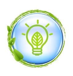 Blue Ball And Green Eco Lamp vector image