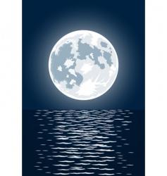 full moon vector image vector image