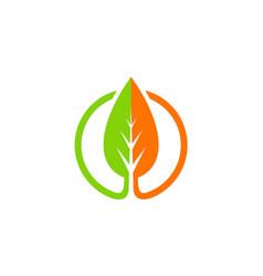 Green leaf organic nature icon logo vector