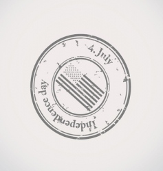 independence day stamp vector image vector image