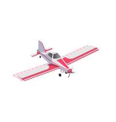Agricultural airplane jet for crop dusting vector