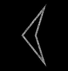arrowhead left fabric textured icon vector image