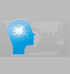 artificial intelligence ai futuristic concept vector image