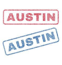 Austin textile stamps vector