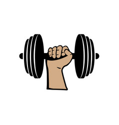 Barbell icon design template isolated vector
