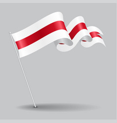 belorussian pin wavy flag vector image