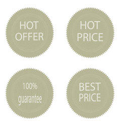 Best price and hot offer stickers for sale vector image