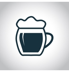 Black beer icon vector