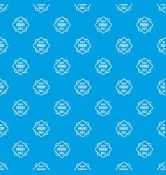 Black friday sale sticker pattern seamless blue vector
