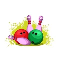 Bowling club emblem vector