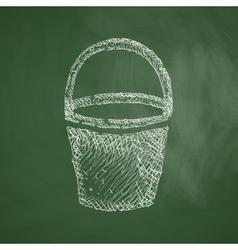 Bucket icon vector