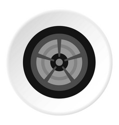 car wheel icon circle vector image