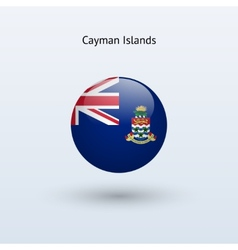 Cayman Islands round flag vector