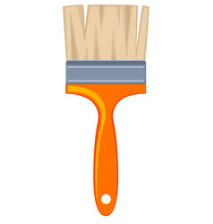 colorful cartoon paint brush vector image