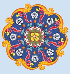 colorful ethnic round ornamental mandala vector image