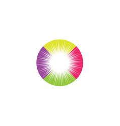 colorful star sun logo design element vector image