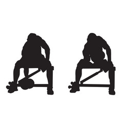 Concentrated bicep curls vector