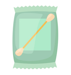 Cotton bud icon cartoon style vector