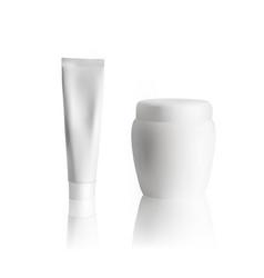 cream tube mockup on white background cosmetic vector image