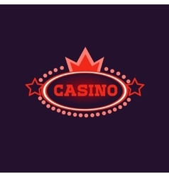 Crowned Casino Neon Sign vector