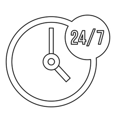 Customer service 24 7 icon outline style vector