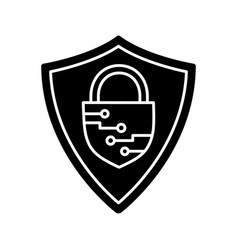 Cybersecurity glyph icon vector