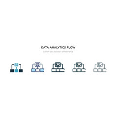 data analytics flow chart icon in different style vector image