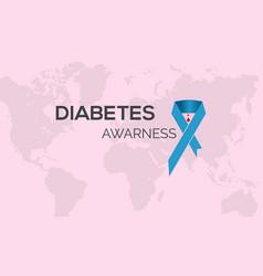 diabetes awareness banner awareness campaign vector image