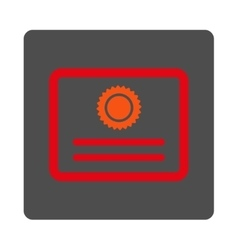Diploma Rounded Square Button vector image