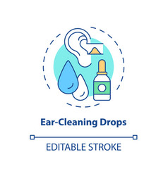 Ear-cleaning drops concept icon vector
