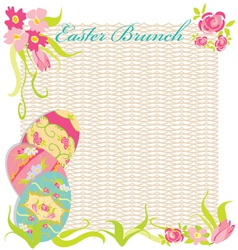 Easter brunch invitation party vector