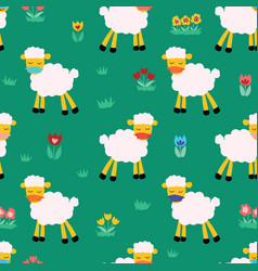 easter sheep wearing protective face mask covid19 vector image