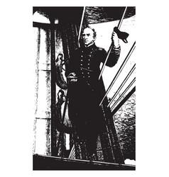 farragut vintage vector image