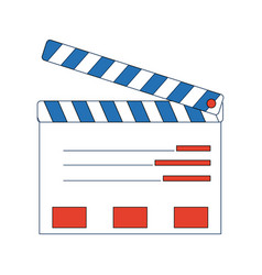 Film maker clapper board action icon vector