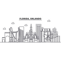 Florida orlando architecture line skyline vector