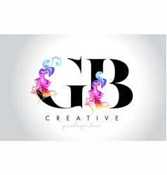 Gb vibrant creative leter logo design with vector