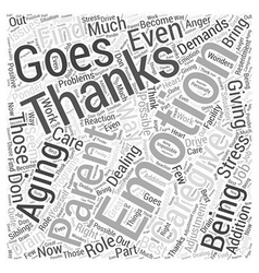 Giving Thanks for Being a Caregiver Word Cloud vector