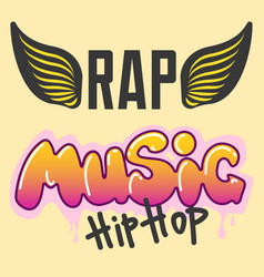 Graffiti hip-hop music text art urban vector