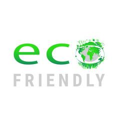 Green earth concept design earth planet health vector
