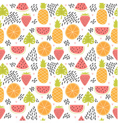 hand drawn colorful seamless pattern with vector image