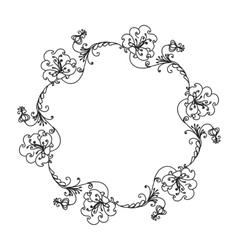 Hand Drawn Ornamental Circle Frame vector image