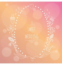 Hand drawn wedding invitation vector image