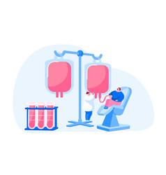 Healthcare charity transfusion donation vector