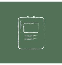 Heart defibrillator icon drawn in chalk vector image