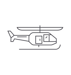 helicopter thin line icon concept helicopter vector image