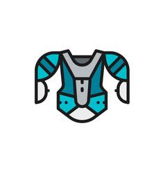 hockey uniform sports sweater sweatshirt flat vector image