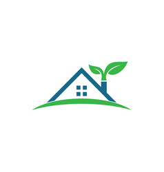 home real estate logo design vector image