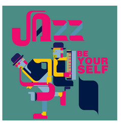Jazz music and people vector